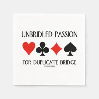 Unbridled Passion For Duplicate Bridge Card Suits Disposable Napkin