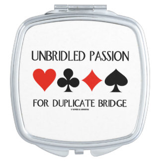 Unbridled Passion For Duplicate Bridge Card Suits Vanity Mirror