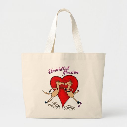 Unbridled Passion Jumbo Tote Canvas Bag