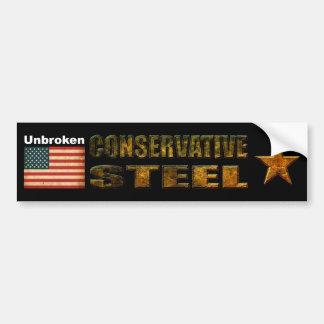 unbroken conservative steel bumper sticker
