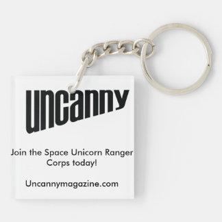 Uncanny Magazine keychain