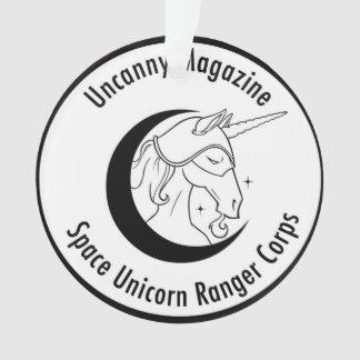 Uncanny Magazine Space Unicorn ornament