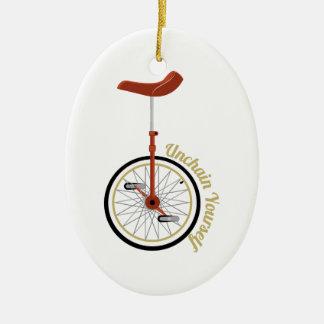 Unchain Yourself Ceramic Ornament