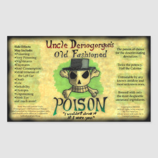 Uncle Demogorgon's Old Fashioned Poison Sticker