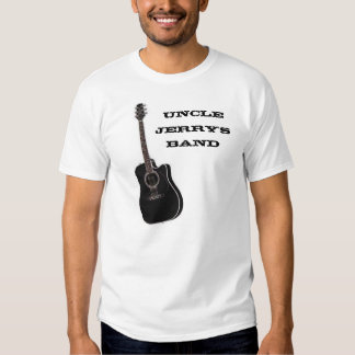 Uncle Jerry's Band - Black Guitar Tee Shirts