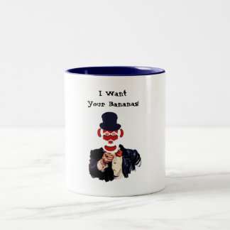 Uncle Monkey Two-Tone Coffee Mug