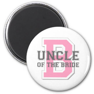 Uncle of the Bride Cheer 6 Cm Round Magnet