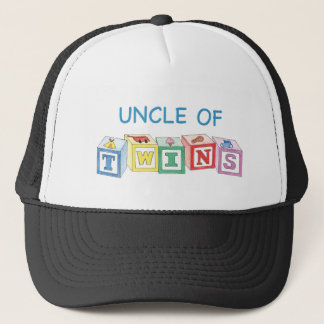 Uncle of Twins Blocks Trucker Hat