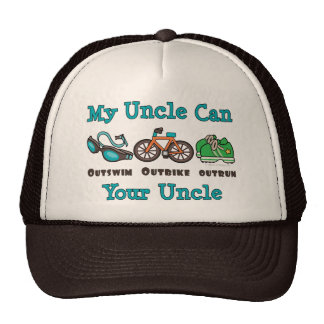 Uncle Outswim Outbike Outrun Triathlon Hat