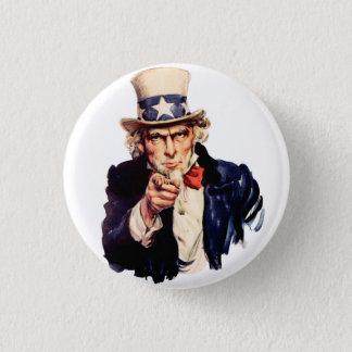 Uncle Sam 3 Cm Round Badge