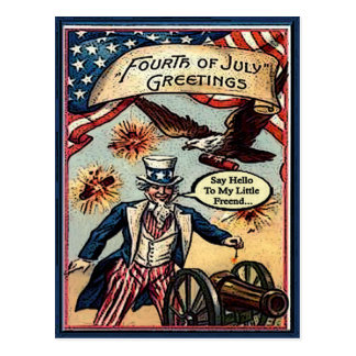 Uncle Sam 4th post card