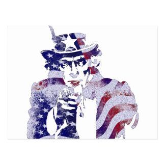 Uncle Sam America USA National Flag Independence D Postcard