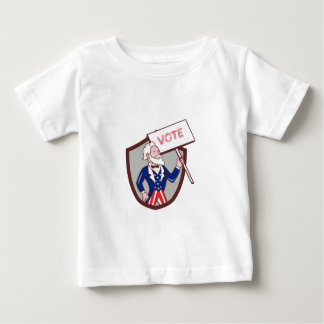 Uncle Sam American Placard Vote Crest Cartoon Baby T-Shirt