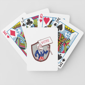 Uncle Sam American Placard Vote Crest Cartoon Bicycle Playing Cards