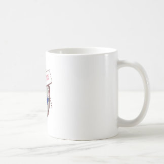 Uncle Sam American Placard Vote Crest Cartoon Coffee Mug