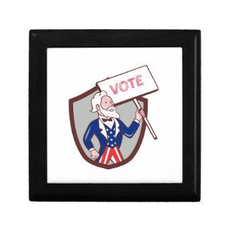 Uncle Sam American Placard Vote Crest Cartoon Gift Box
