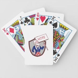 Uncle Sam American Placard Vote Crest Cartoon Poker Deck