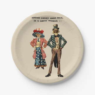 UNCLE SAM AND AUNT SAMANTHA PAPER PLATES