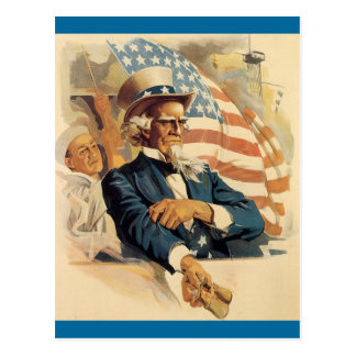 Uncle Sam and the Navy Postcard