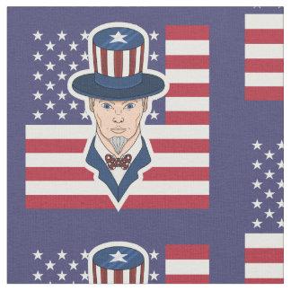 Uncle Sam cartoon Fabric
