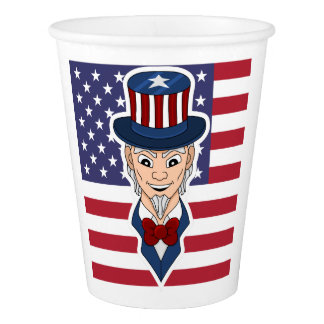 Uncle Sam cartoon Paper Cup