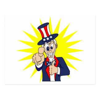 Uncle Sam Cartoon Post Card