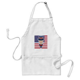 Uncle Sam cartoon Standard Apron