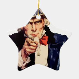Uncle Sam Ceramic Ornament