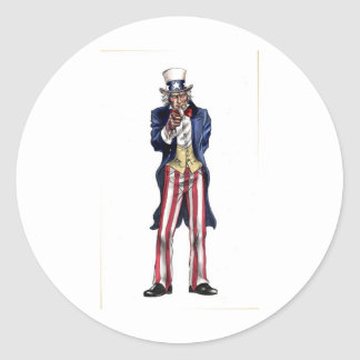 Uncle Sam Classic Round Sticker
