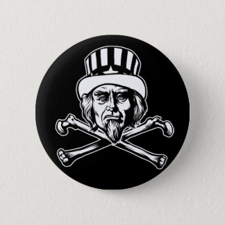 Uncle Sam & Crossbones Button