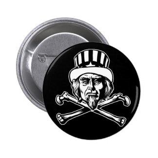 Uncle Sam & Crossbones Button
