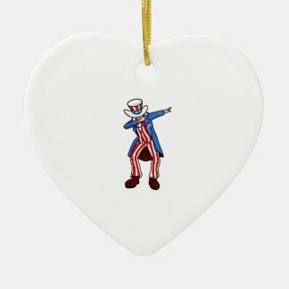 Uncle Sam Dab Ceramic Ornament