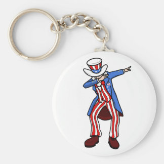 Uncle Sam Dab Key Ring