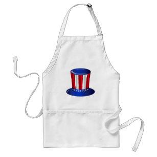 Uncle Sam Flag Hat Standard Apron