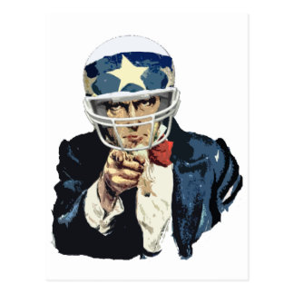 uncle sam football post cards