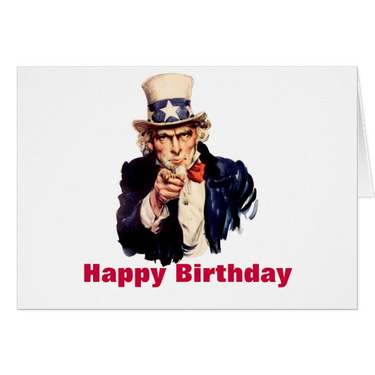 Uncle Sam Happy Birthday Card