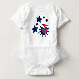 Uncle Sam hat and stars Baby Bodysuit