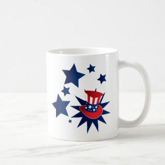 Uncle Sam hat and stars Coffee Mug