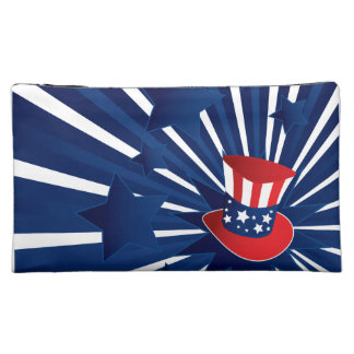 Uncle Sam hat and stars Cosmetic Bag