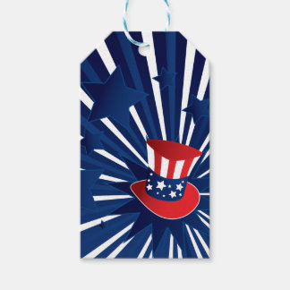Uncle Sam hat and stars Gift Tags