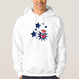 Uncle Sam hat and stars Hoodie