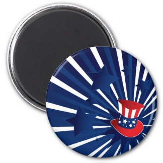 Uncle Sam hat and stars Magnet