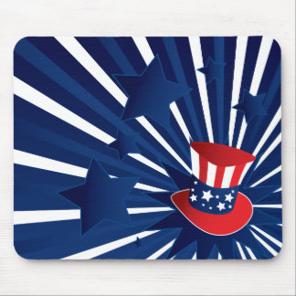 Uncle Sam hat and stars Mouse Pad