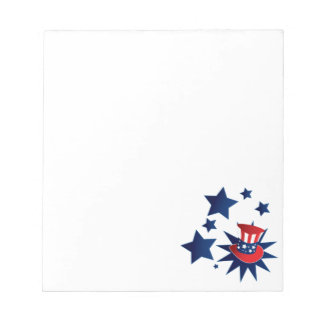 Uncle Sam hat and stars Notepad