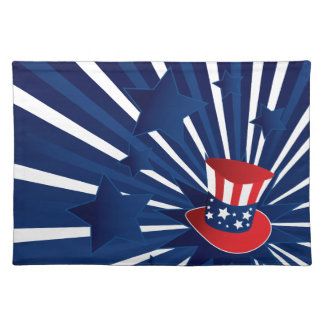 Uncle Sam hat and stars Placemat