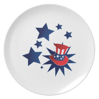 Uncle Sam hat and stars Plate