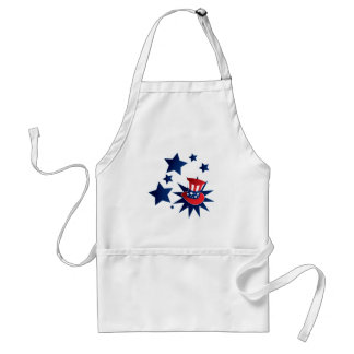 Uncle Sam hat and stars Standard Apron