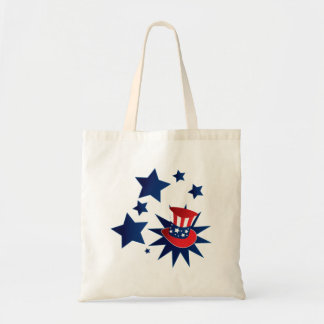 Uncle Sam hat and stars Tote Bag