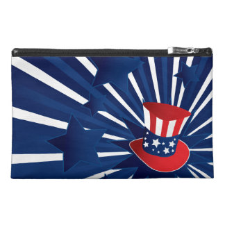 Uncle Sam hat and stars Travel Accessory Bag