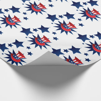 Uncle Sam hat and stars Wrapping Paper